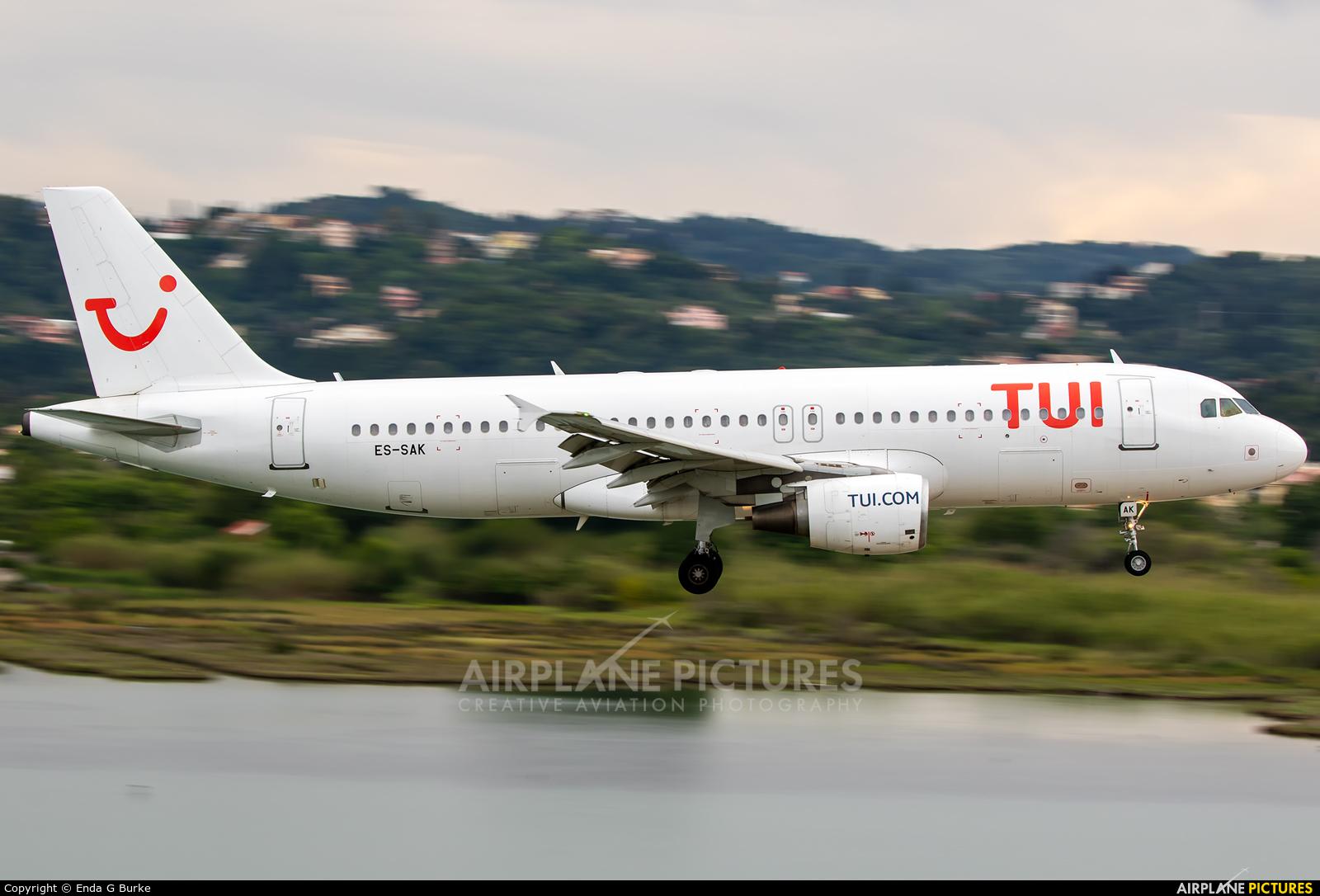 TUI Airlines Belgium ES-SAK aircraft at Corfu - Ioannis Kapodistrias