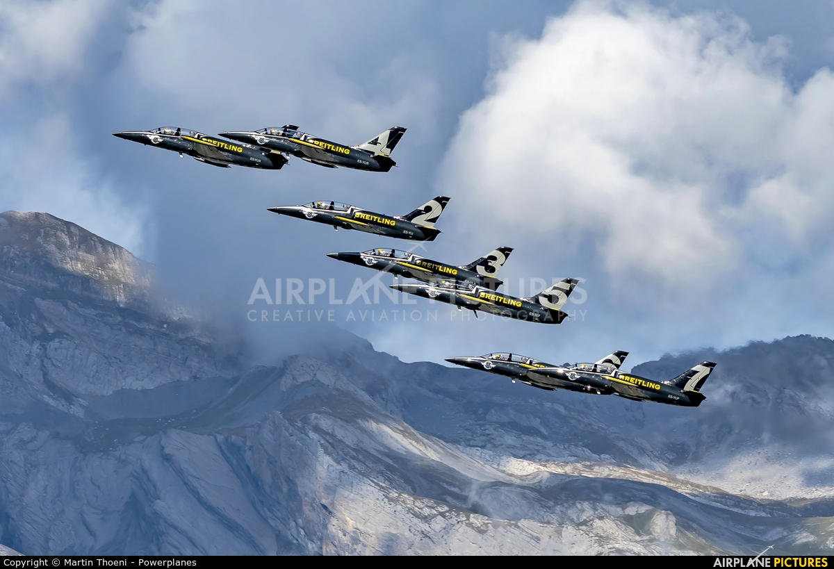Breitling Jet Team ES-YLN aircraft at Sion
