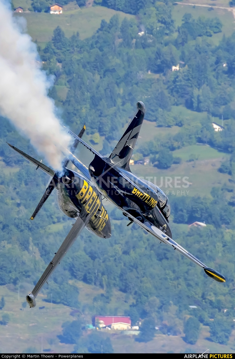 Breitling Jet Team ES-YLF aircraft at Sion