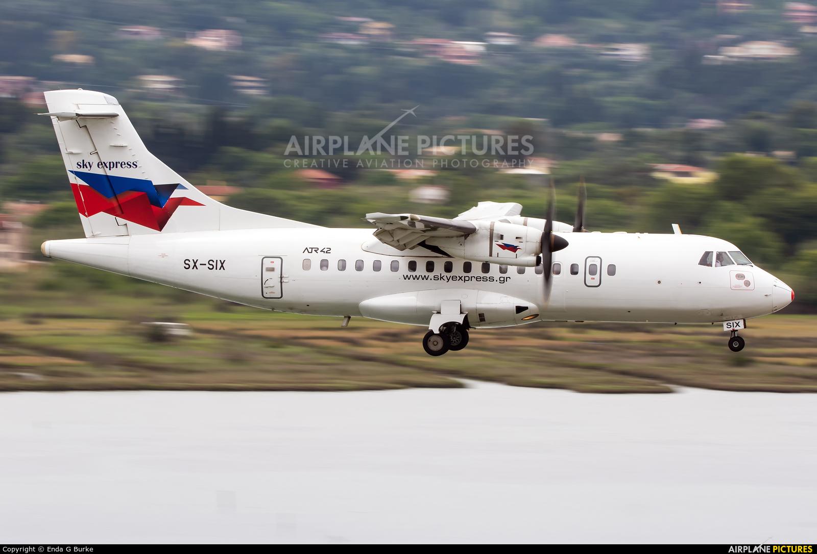 Sky Express SX-SIX aircraft at Corfu - Ioannis Kapodistrias