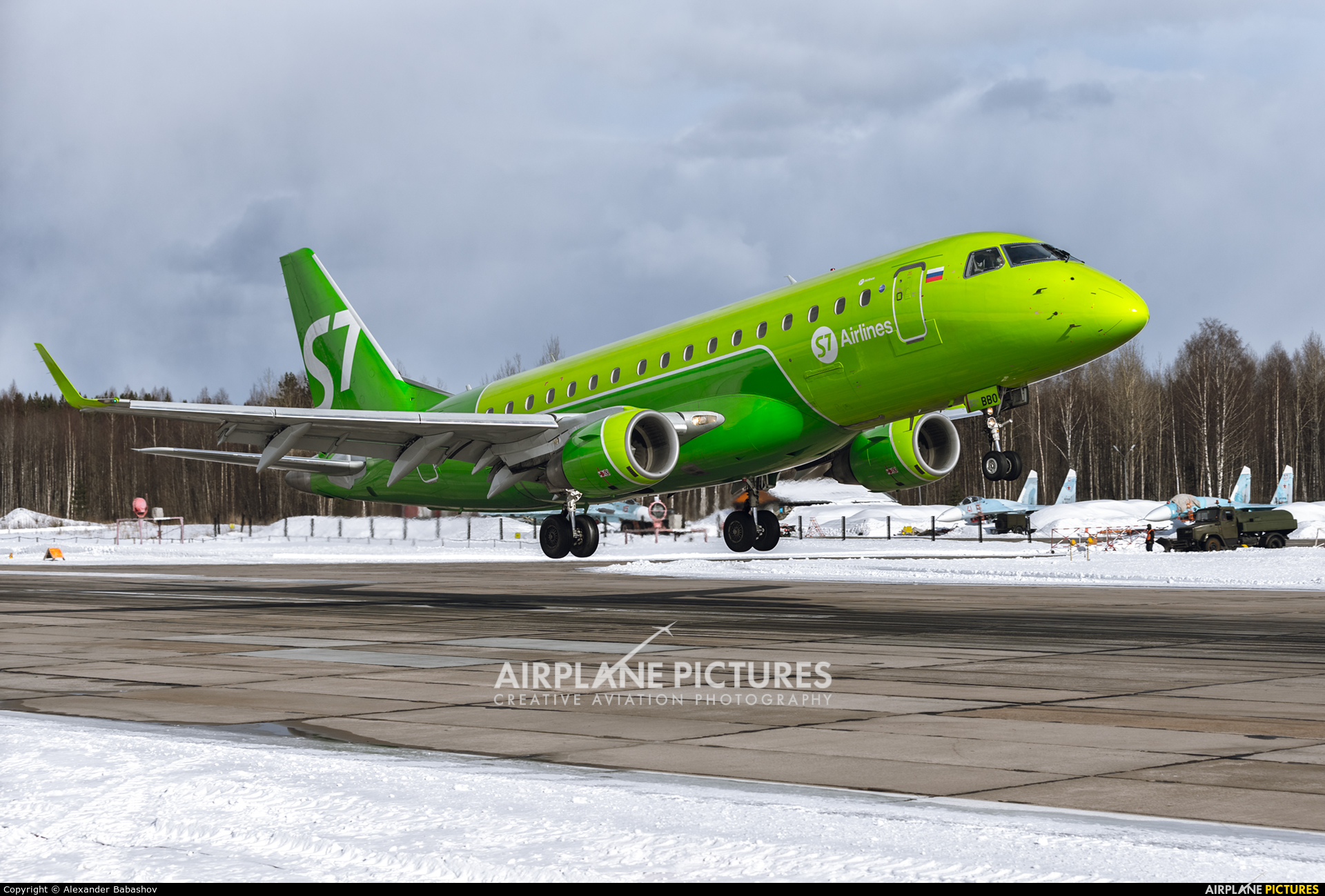 S7 Airlines - aircraft at Petrozavodsk