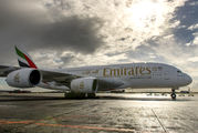 A6-EUX - Emirates Airlines Airbus A380 aircraft