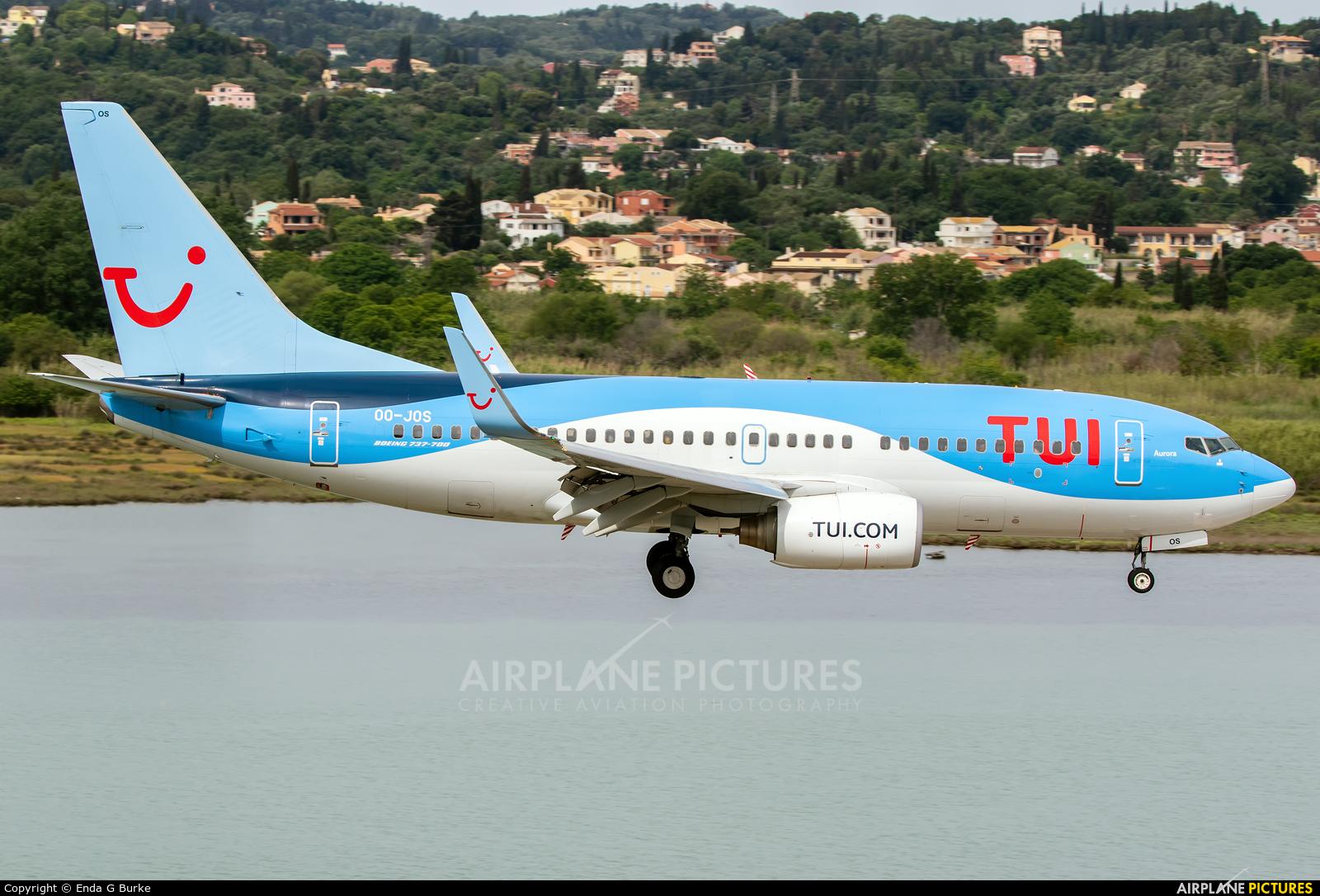 TUI Airlines Belgium OO-JOS aircraft at Corfu - Ioannis Kapodistrias