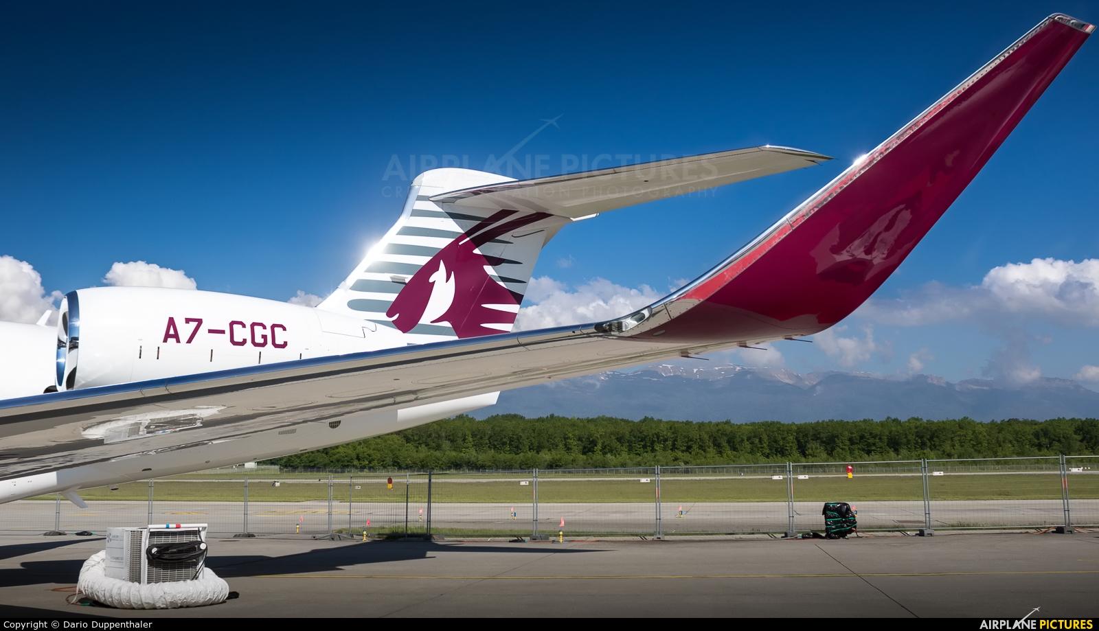 Qatar Executive A7-CGC aircraft at Geneva Intl