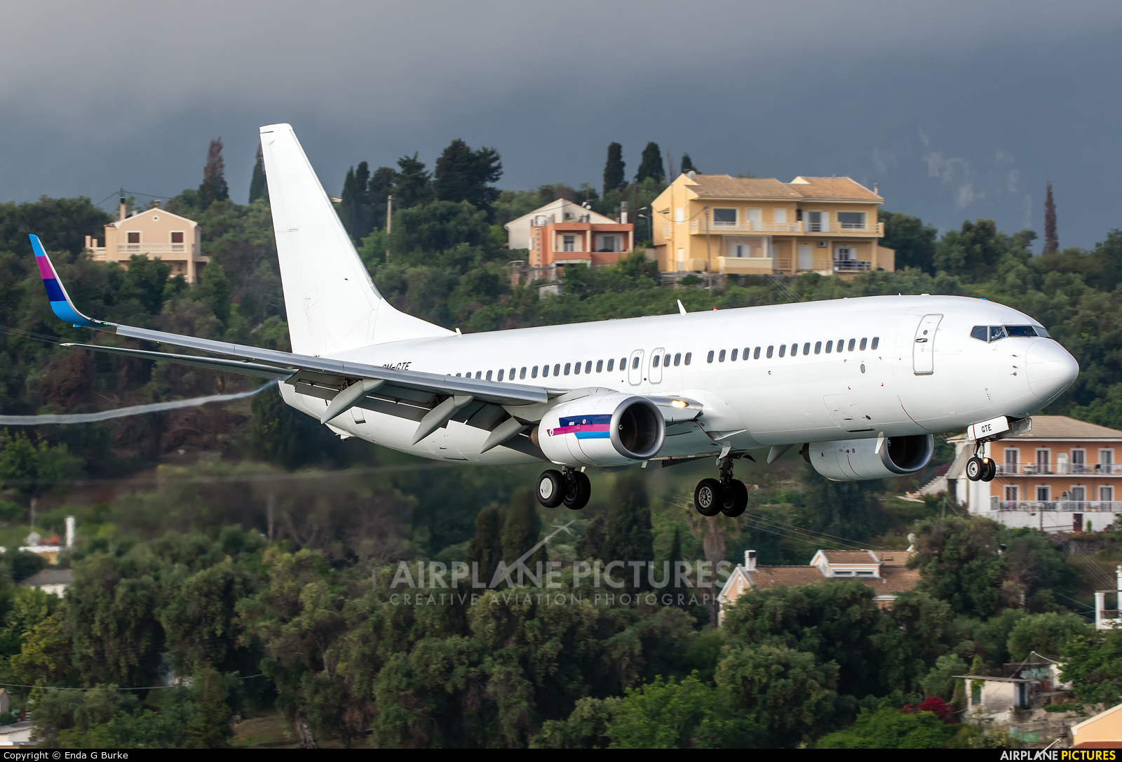 Go2Sky Airline OM-GTE aircraft at Corfu - Ioannis Kapodistrias