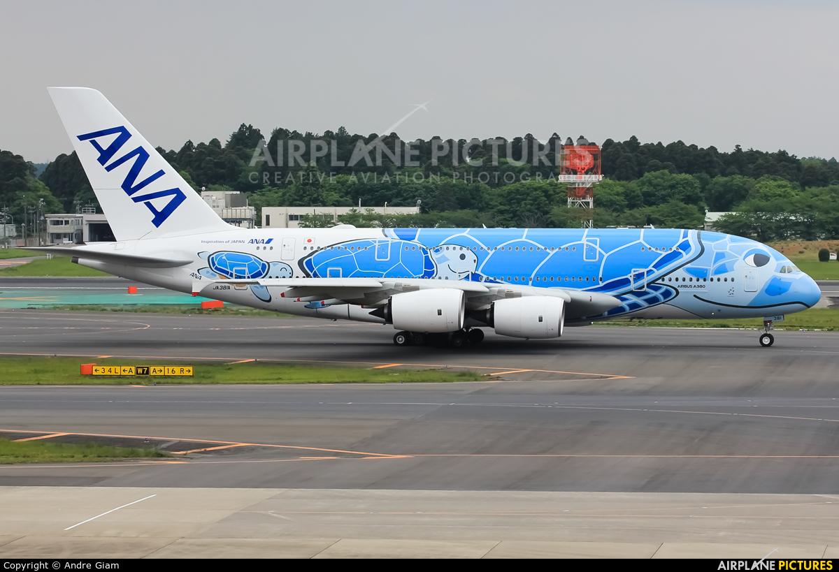 ANA - All Nippon Airways JA381A aircraft at Tokyo - Narita Intl
