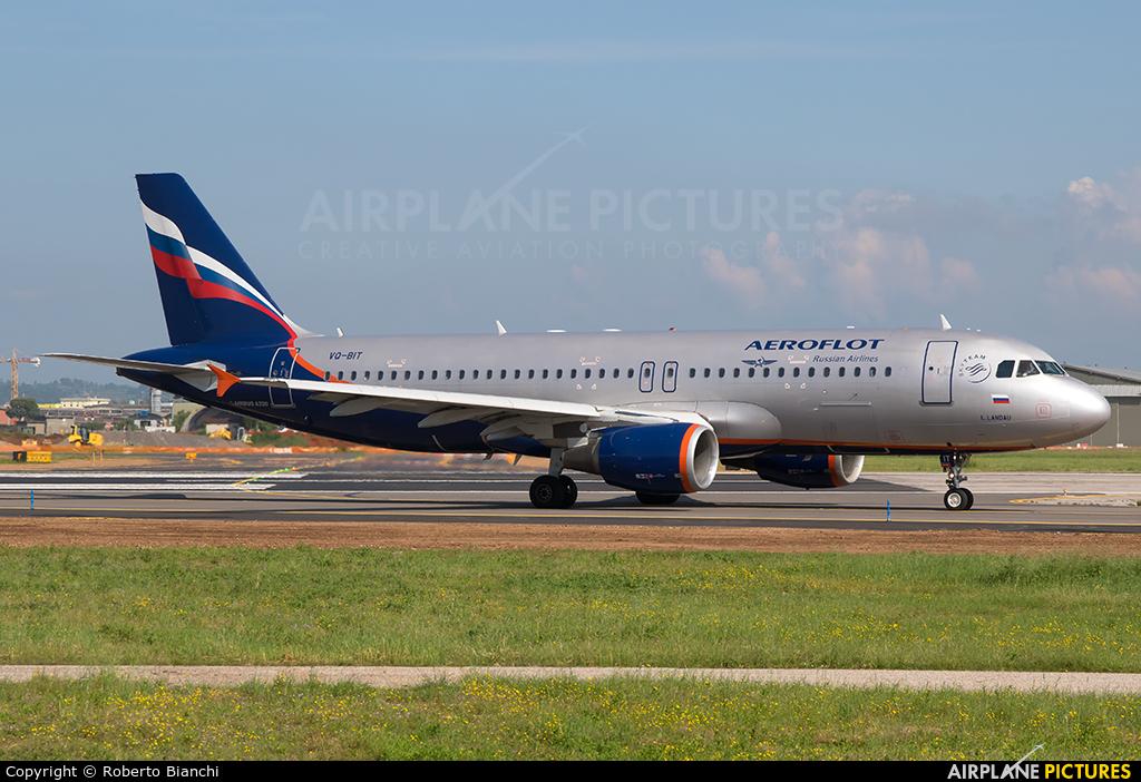 Aeroflot VQ-BIT aircraft at Verona - Villafranca