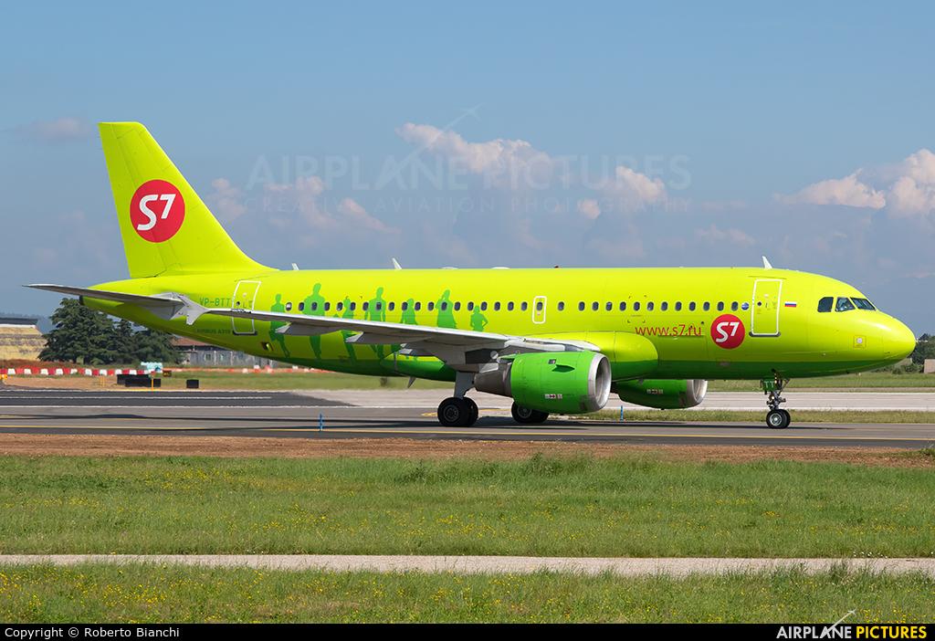 S7 Airlines VP-BTT aircraft at Verona - Villafranca