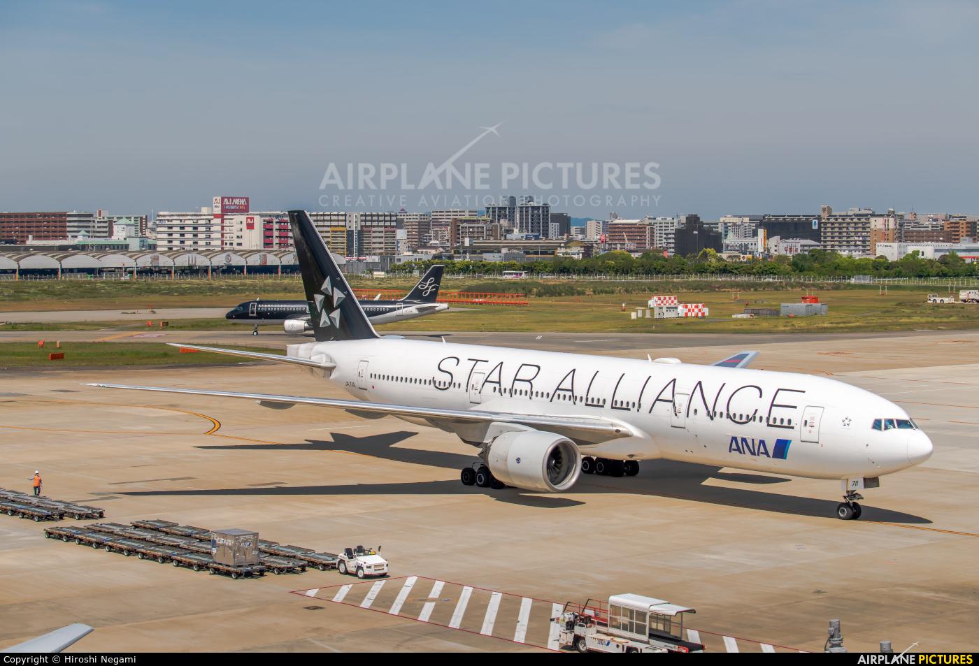 ANA - All Nippon Airways JA711A aircraft at Fukuoka
