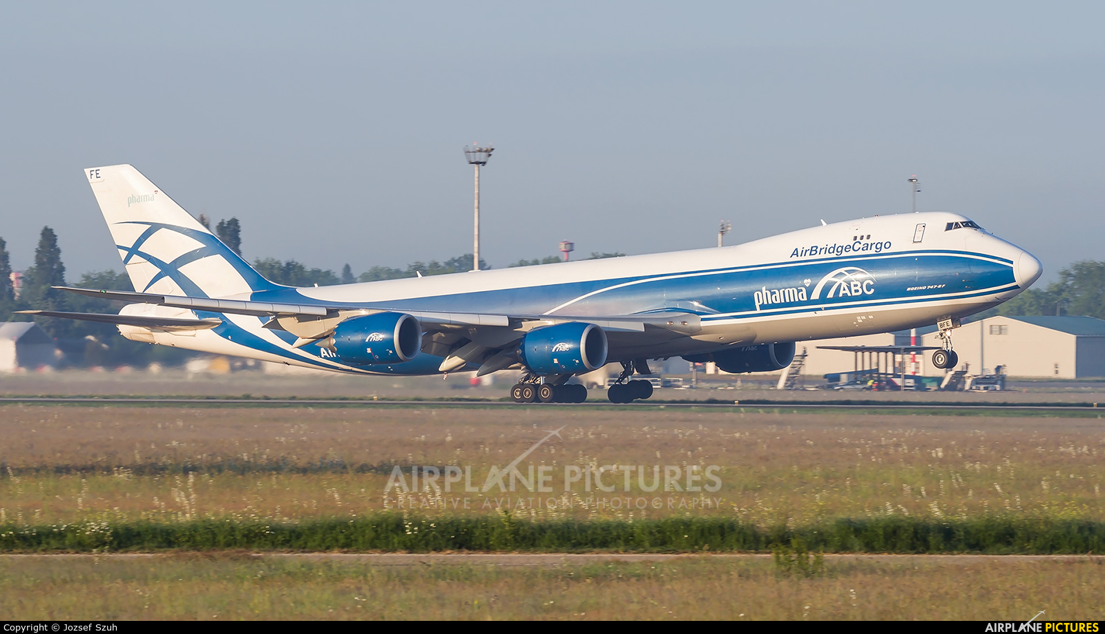 Air Bridge Cargo VQ-BFE aircraft at Budapest Ferenc Liszt International Airport