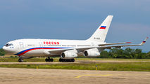 Patriarch Kirill of Moscow visited Strasbourg onboard of Rossiya Il-96 title=