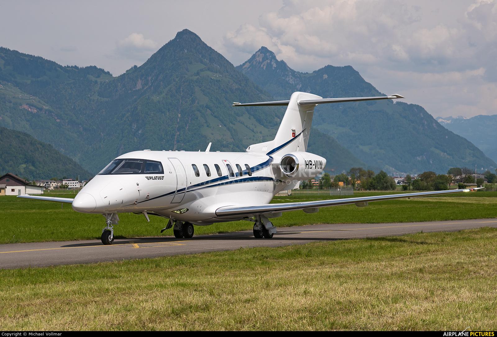 Pilatus HB-VUM aircraft at Buochs