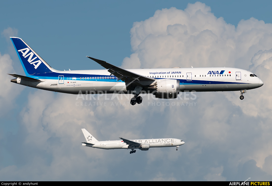 ANA - All Nippon Airways JA891A aircraft at Singapore - Changi