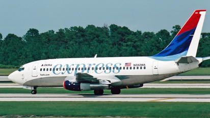 N243WA - Delta Express Boeing 737-200