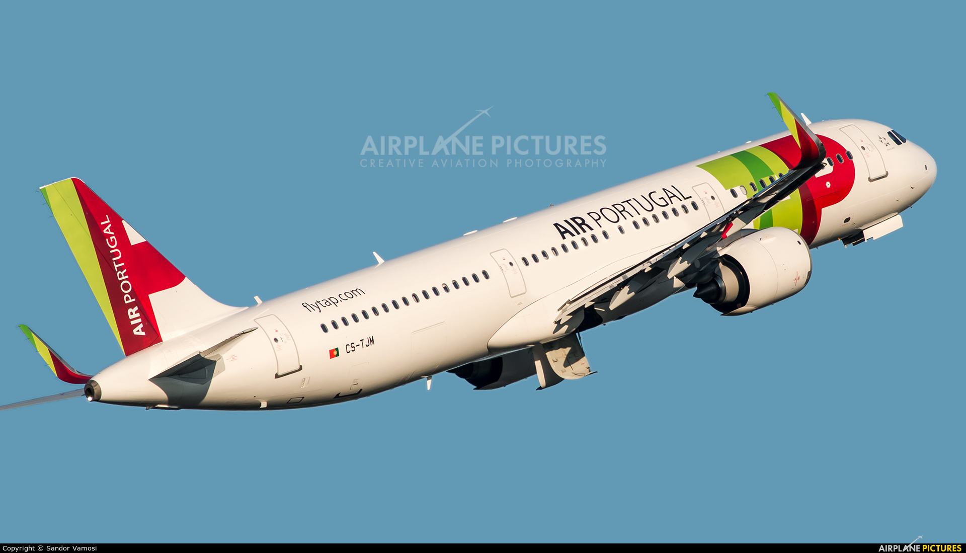 TAP Portugal CS-TJM aircraft at Budapest Ferenc Liszt International Airport