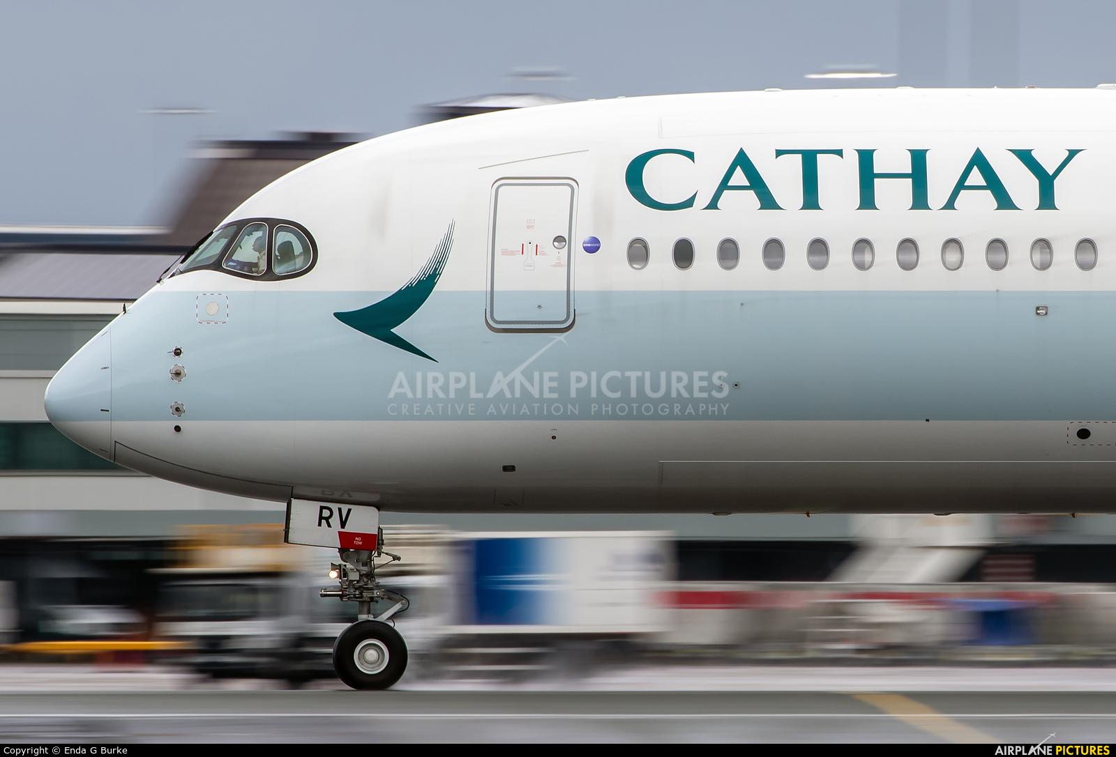 Cathay Pacific B-LRV aircraft at Manchester