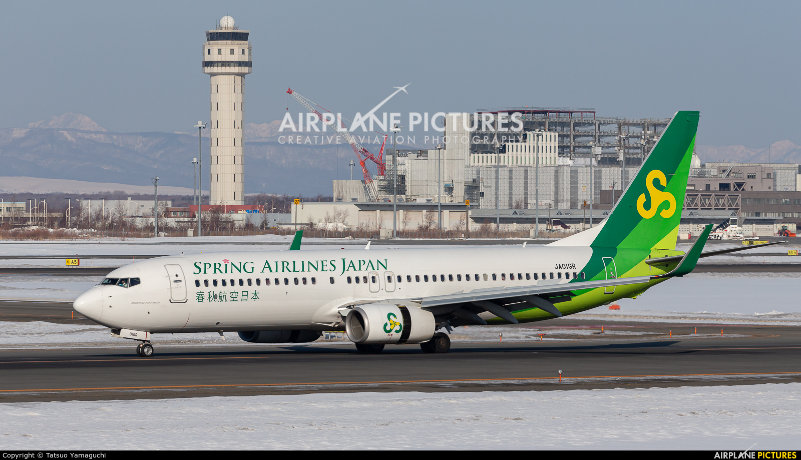 Spring Airlines Japan JA01GR aircraft at New Chitose