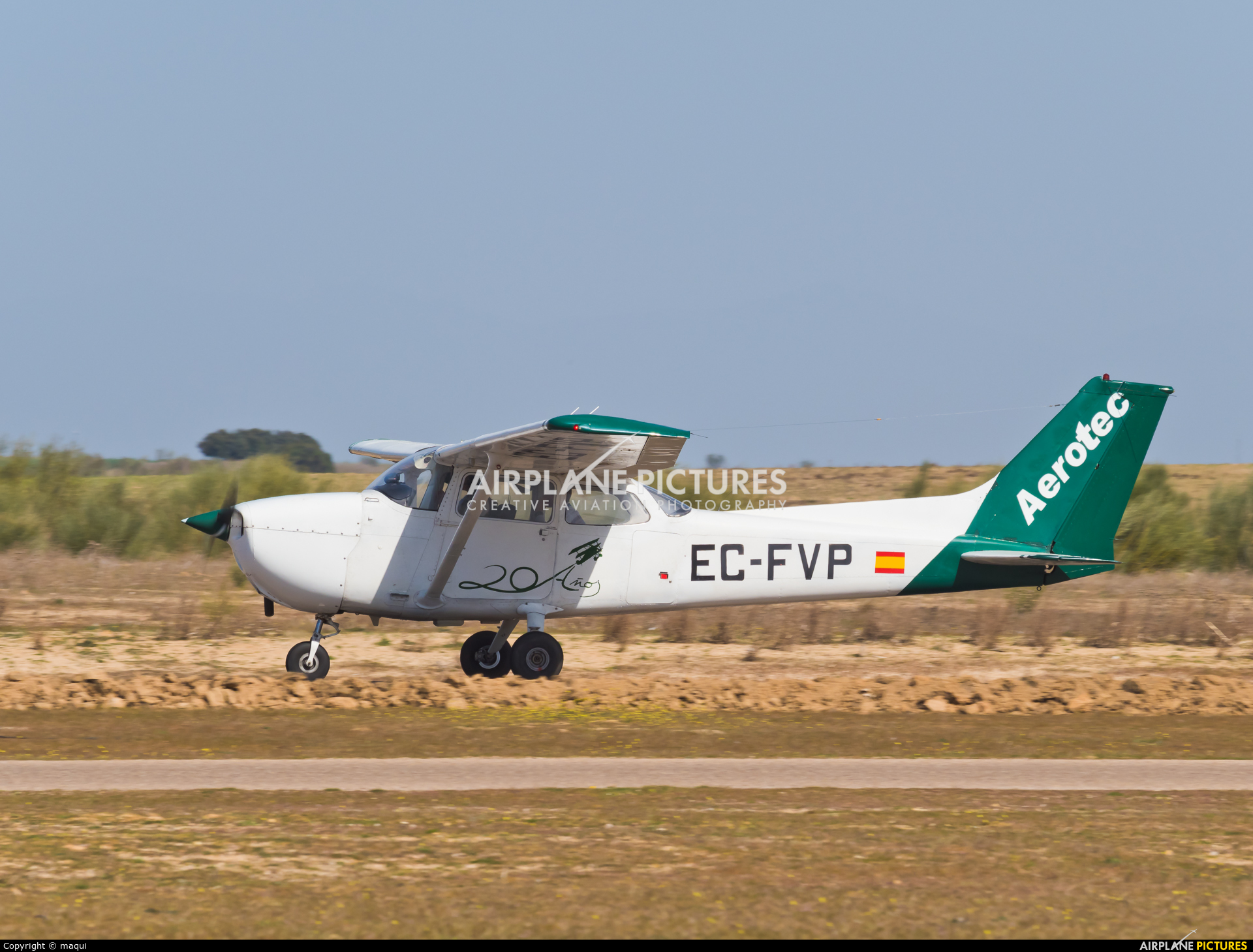 Aerotec Flight Training EC-FVP aircraft at Casarrubios del Monte