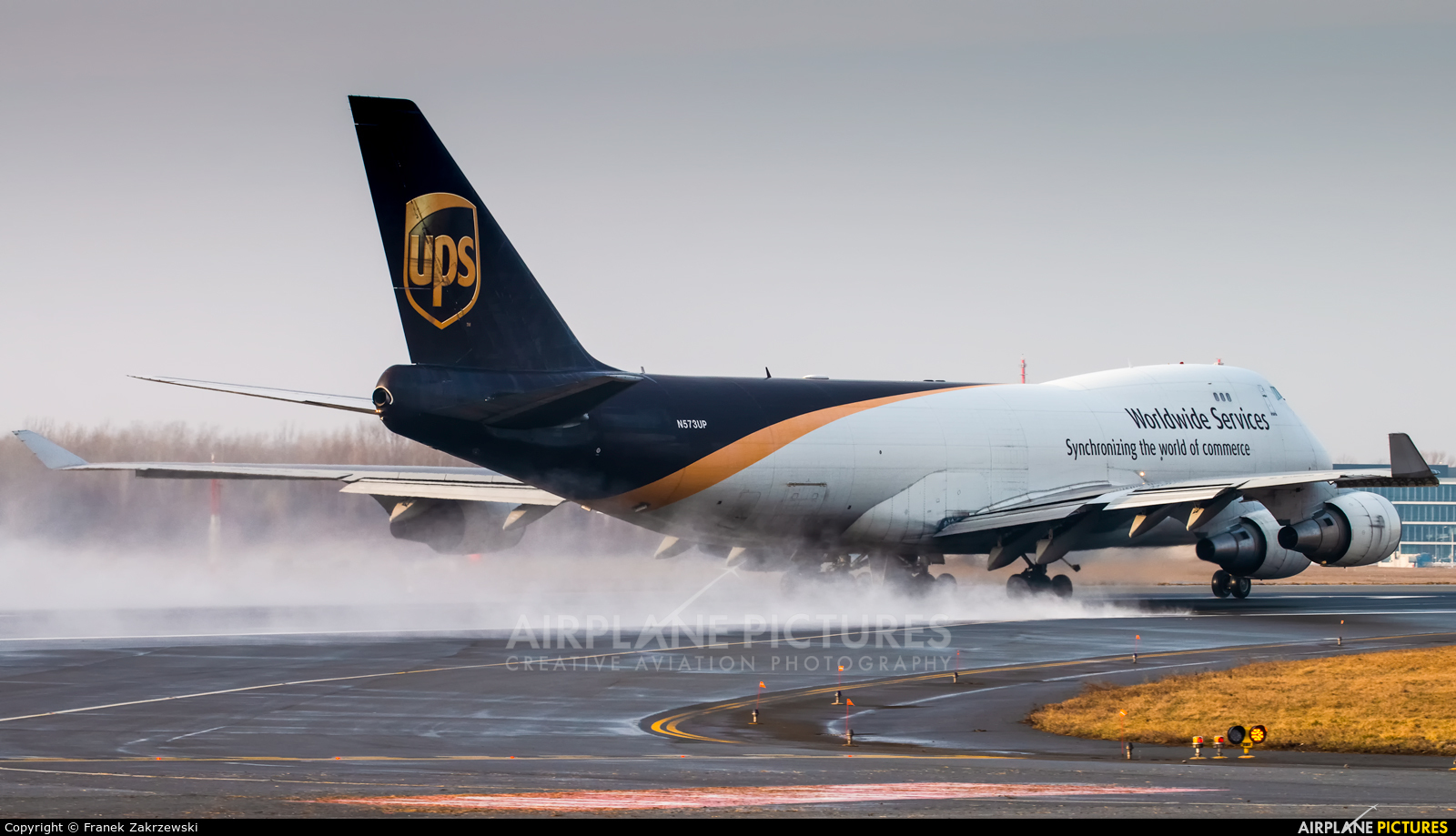 UPS - United Parcel Service N573UP aircraft at Warsaw - Frederic Chopin