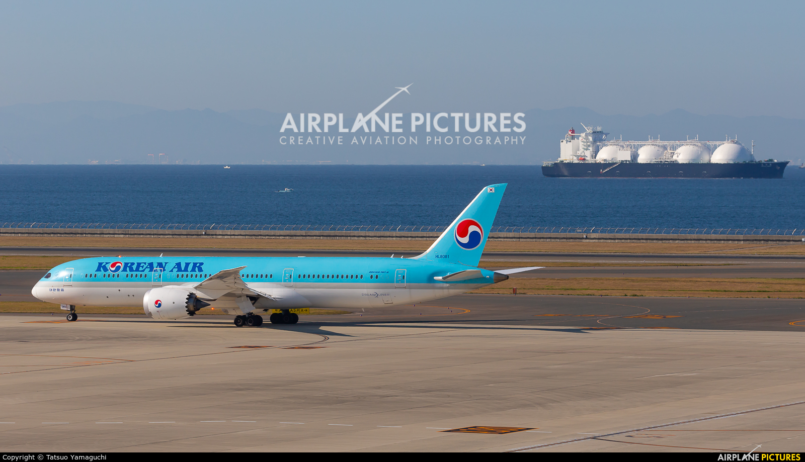 Korean Air HL8081 aircraft at Chubu Centrair Intl
