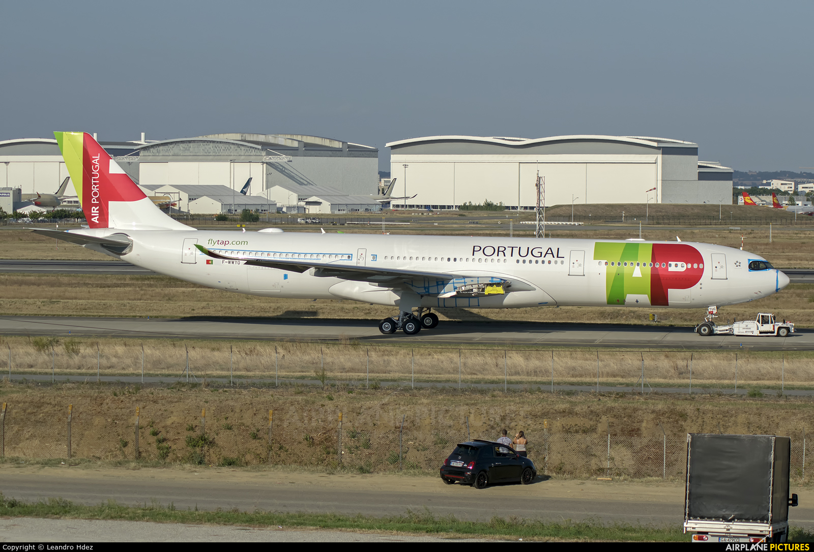 TAP Portugal F-WWYO aircraft at Toulouse - Blagnac