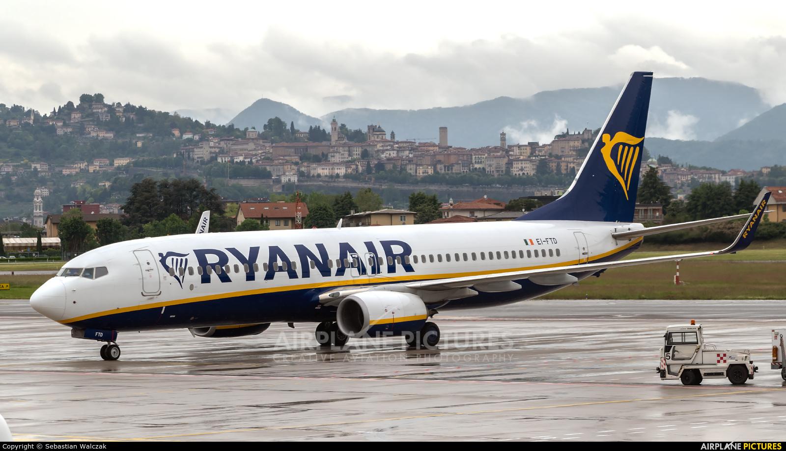 Ryanair EI-FTD aircraft at Bergamo - Orio al Serio