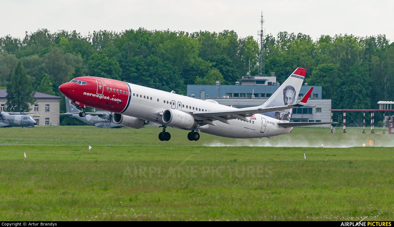 Norwegian Air Shuttle EI-FHA aircraft at Kraków - John Paul II Intl