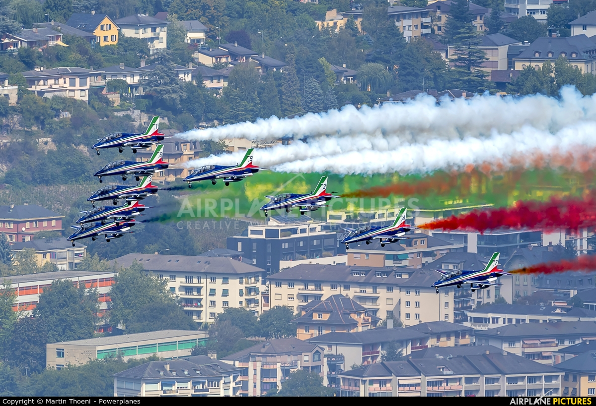 """Italy - Air Force """"Frecce Tricolori"""" MM54517 aircraft at Sion"""