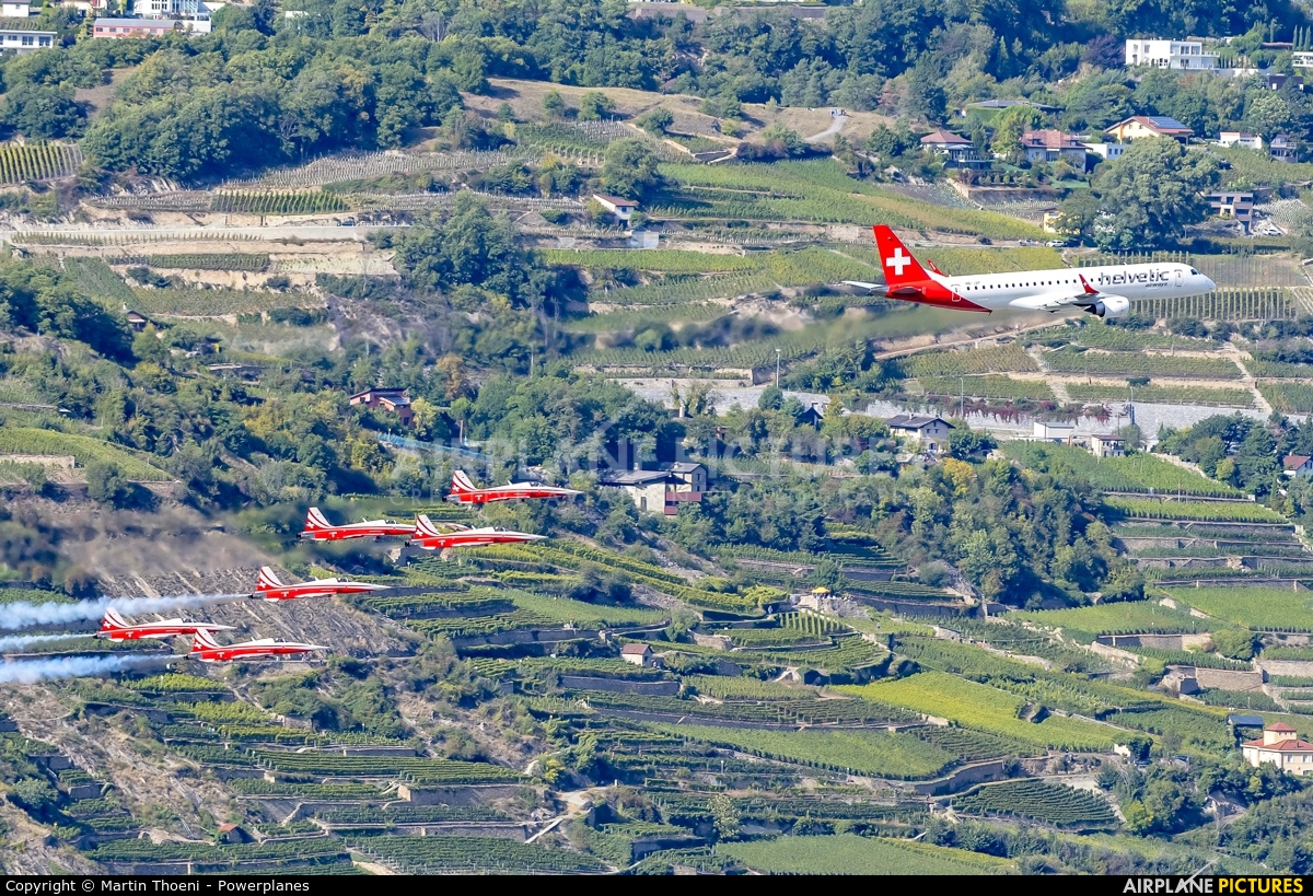 Helvetic Airways HB-JVP aircraft at Sion