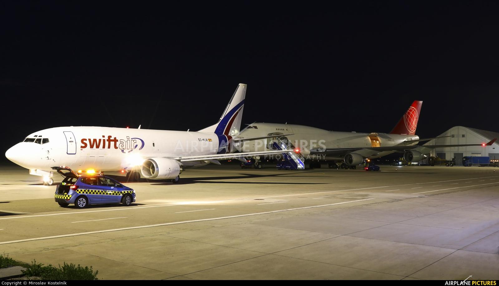 Swiftair EC-KLR aircraft at Ostrava Mošnov