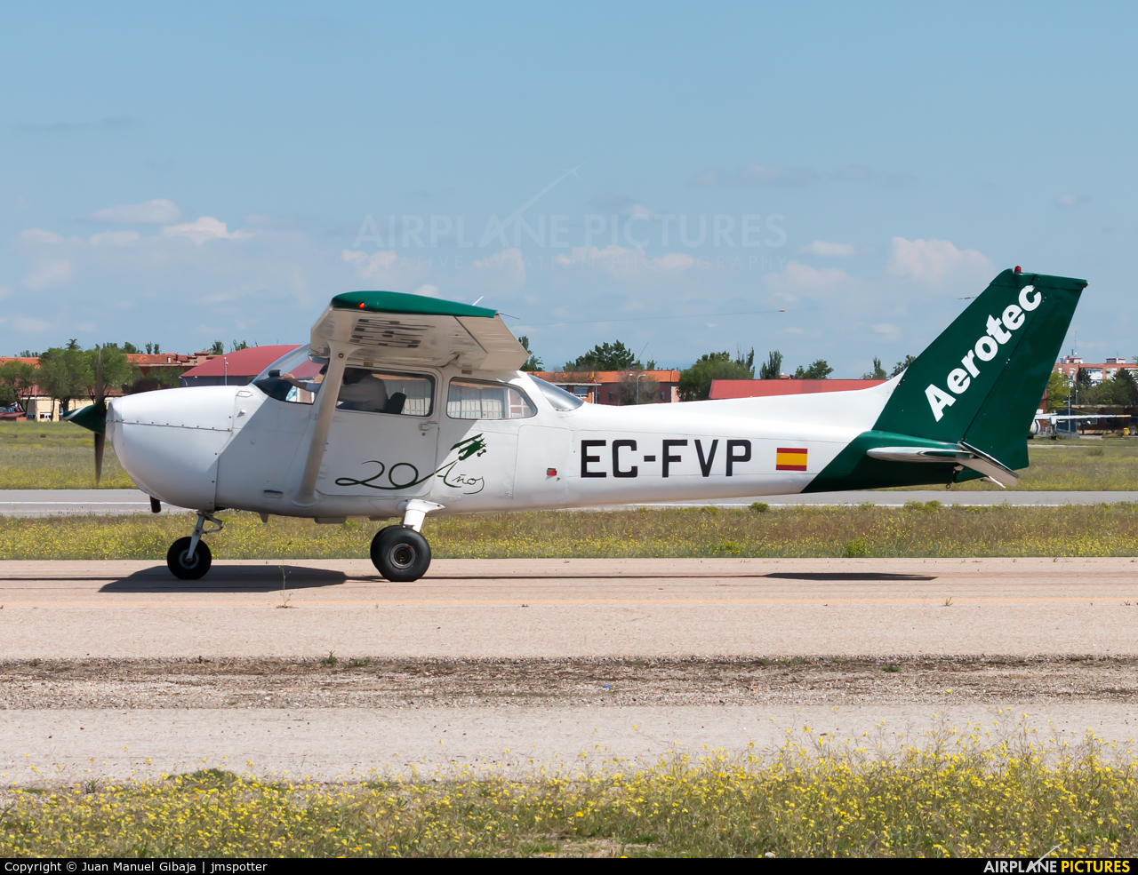 Aerotec Flight Training EC-FVP aircraft at Madrid - Cuatro Vientos