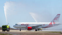 Inaugural flight of Air Canada Rouge to Greater Moncton Intl title=