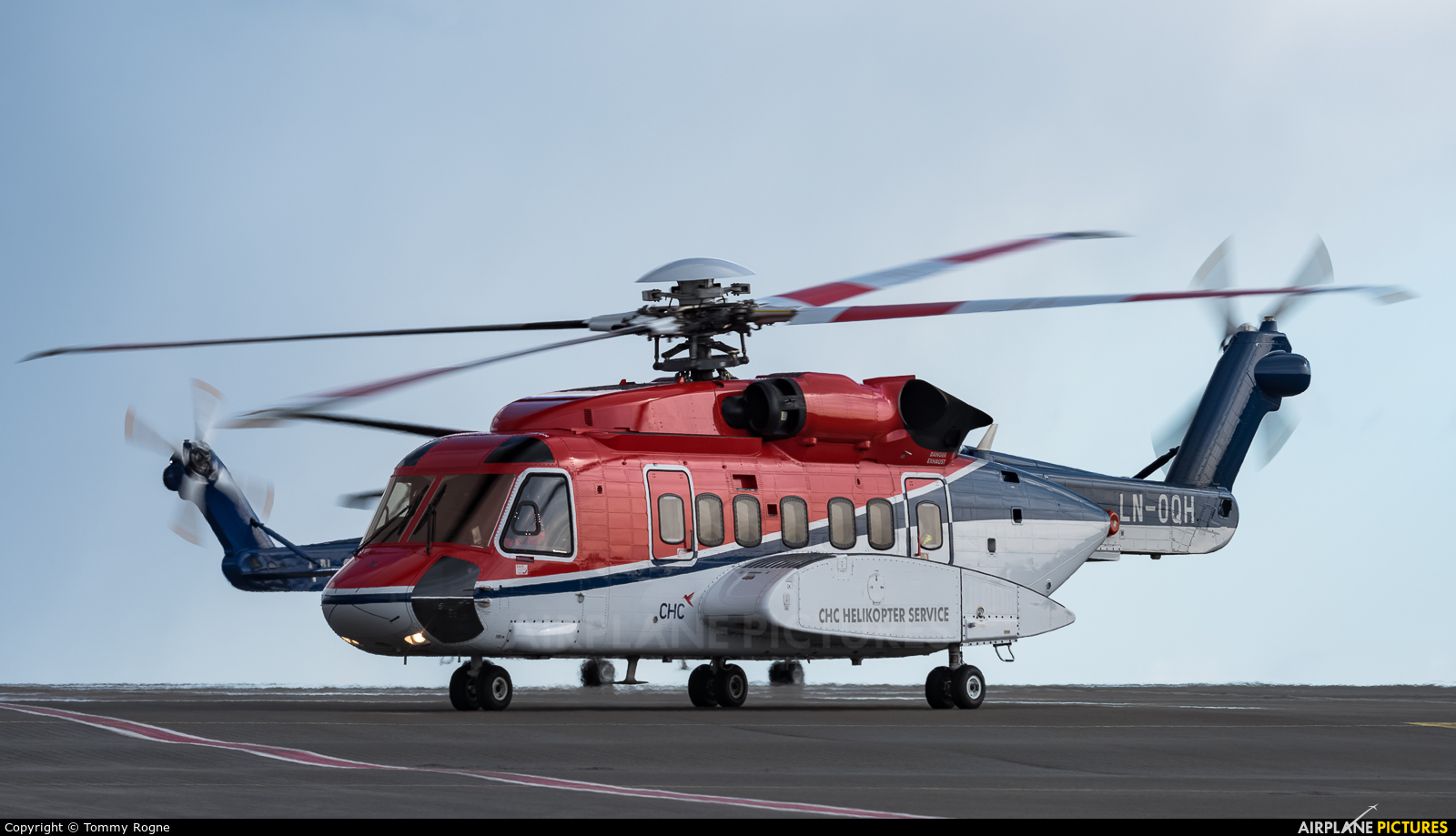 CHC Norway LN-OQH aircraft at Bergen - Flesland