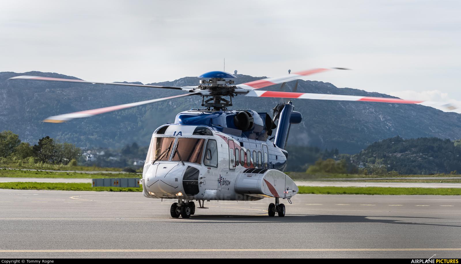Bristow Norway LN-OIA aircraft at Bergen - Flesland