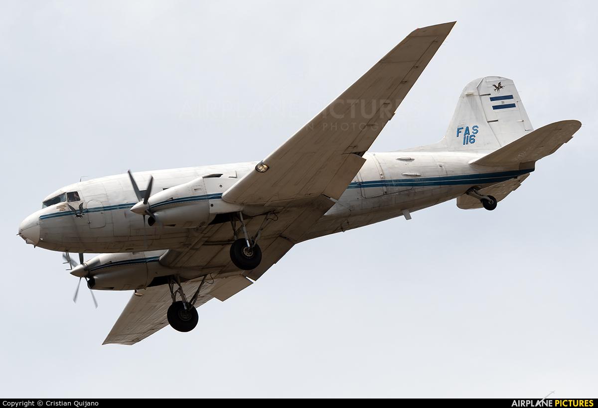 El Salvador - Air Force FAS116 aircraft at San Jose - Juan Santamaría Intl