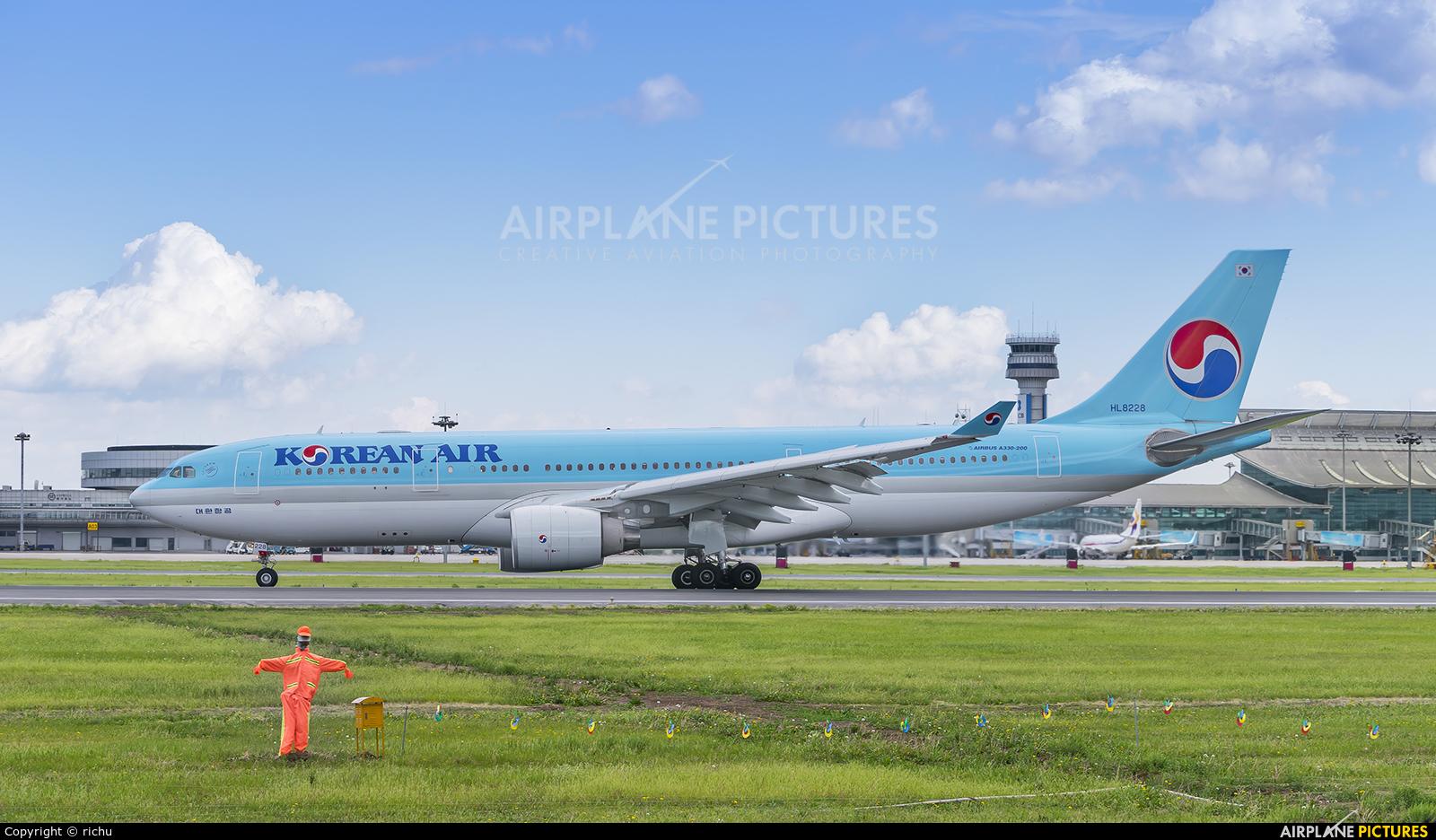 Korean Air HL8228 aircraft at Shenyang-Taoxian
