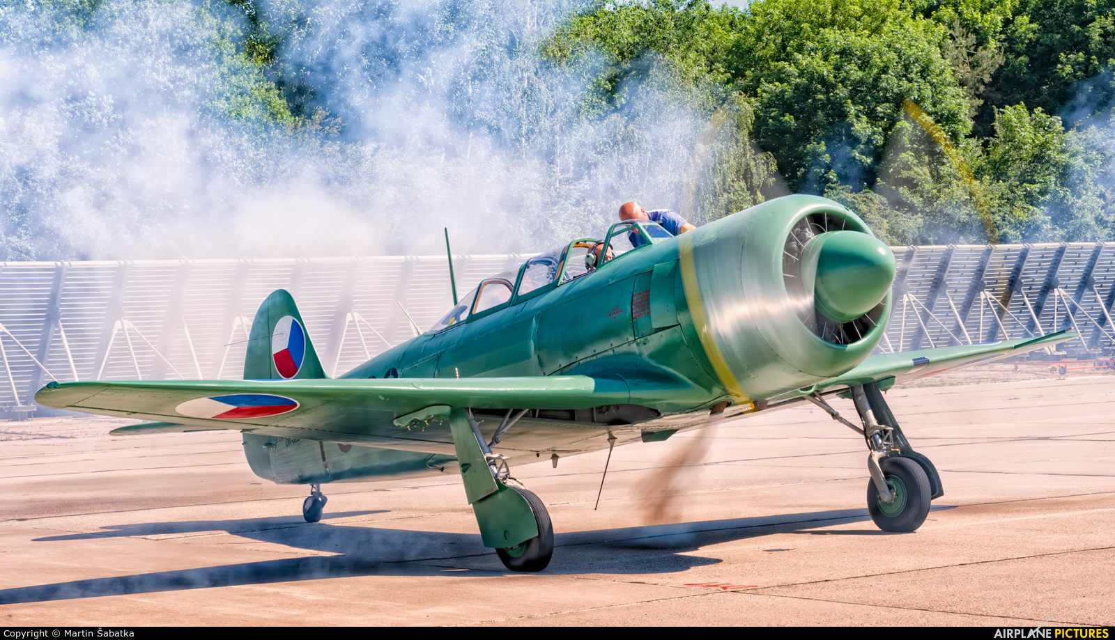 Private OK-JZE aircraft at Pardubice
