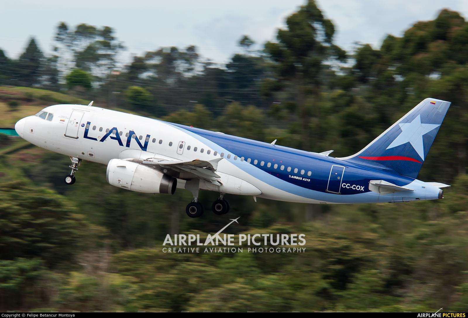 LAN Airlines CC-COX aircraft at Medellin - Jose Maria Cordova Intl