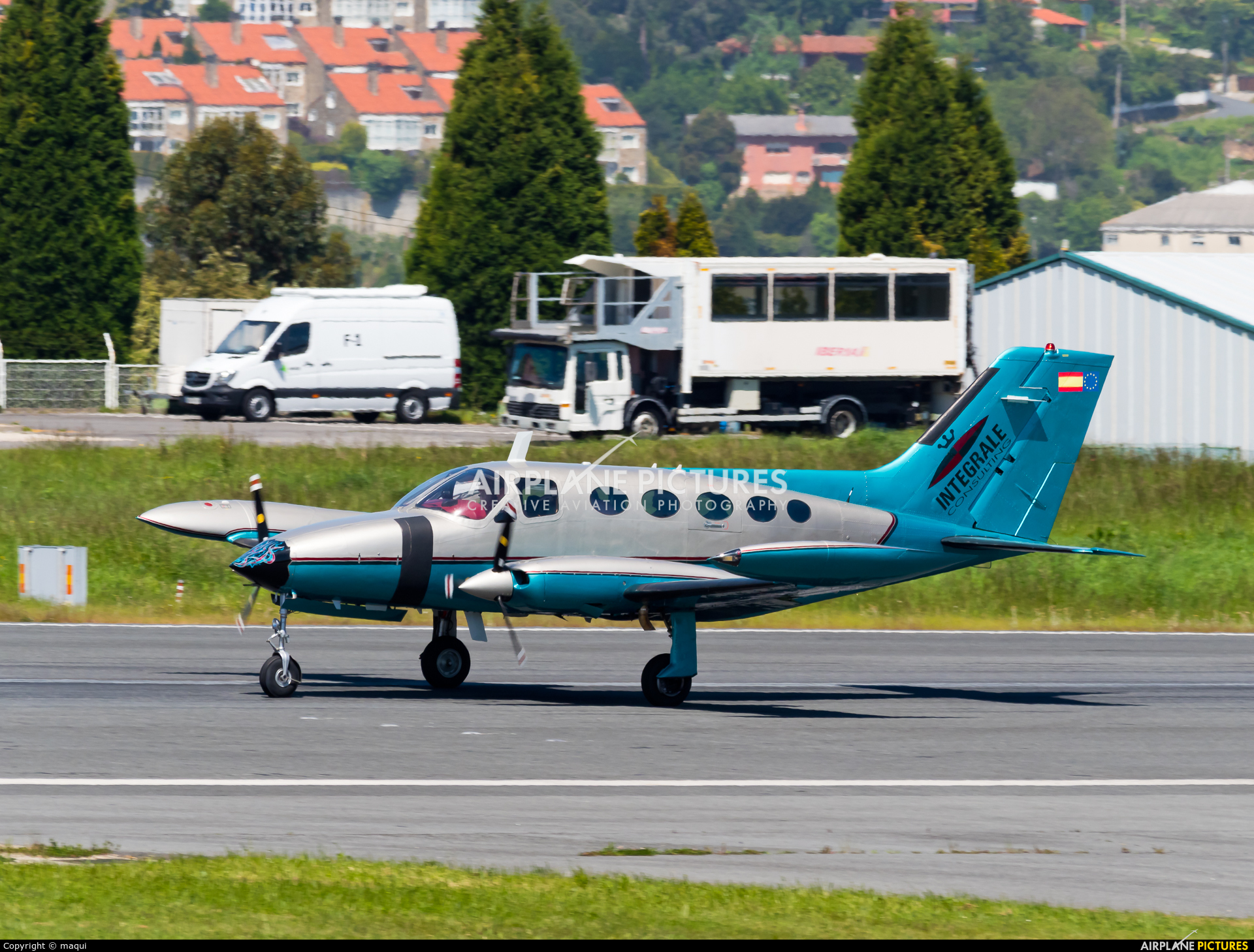 Private EC-FJF aircraft at La Coruña