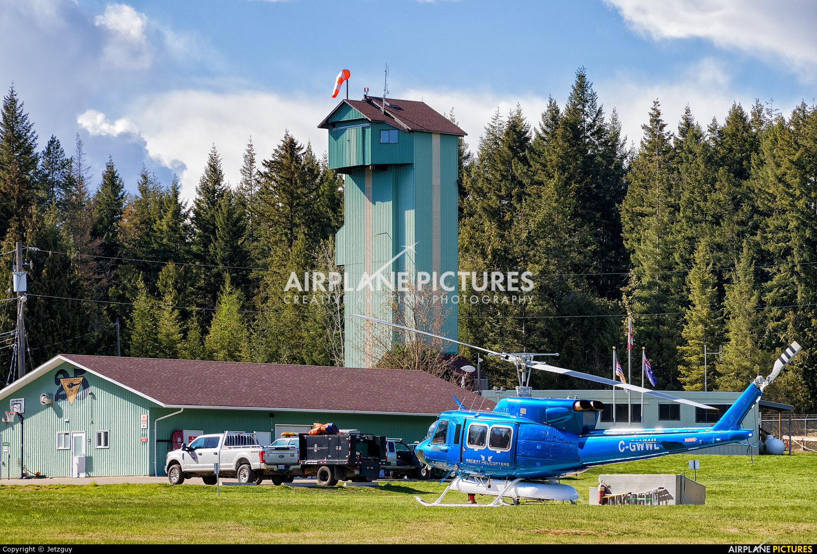 Ascent Helicopters C-GWWL aircraft at Salmon Arm, BC