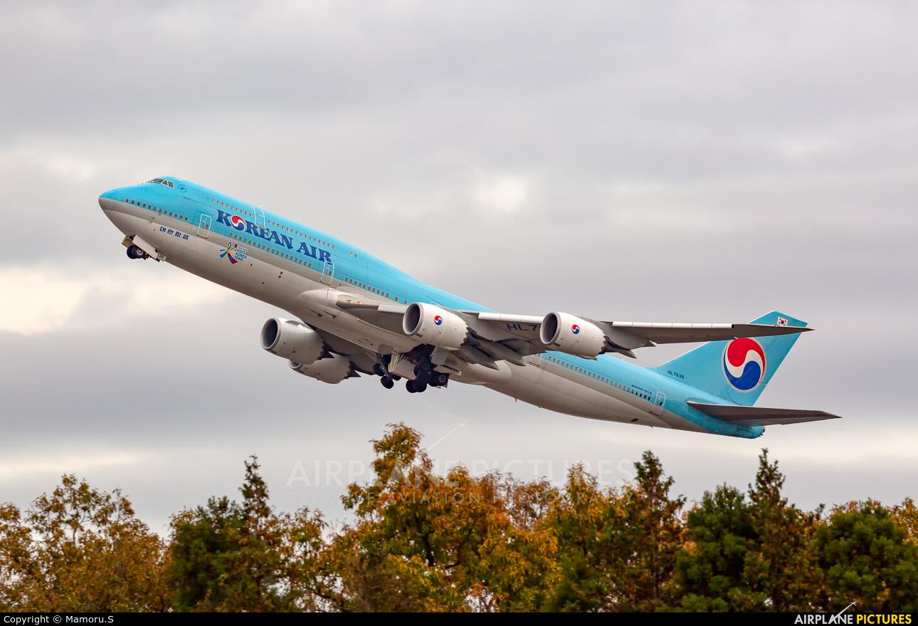 Korean Air HL7638 aircraft at Tokyo - Narita Intl