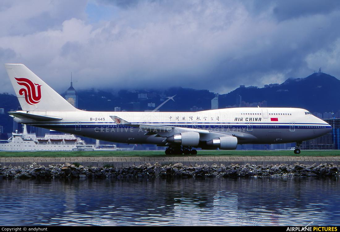 Air China B-2445 aircraft at HKG - Kai Tak Intl CLOSED