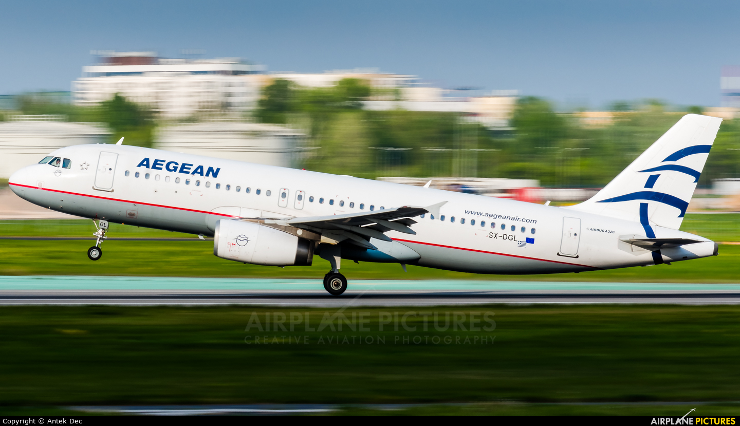 Aegean Airlines SX-DGL aircraft at Warsaw - Frederic Chopin