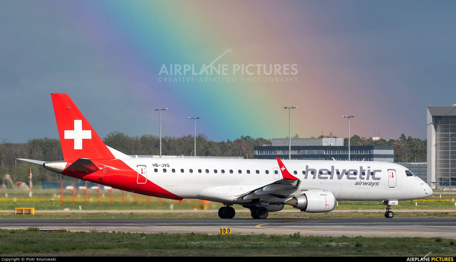 Helvetic Airways HB-JVQ aircraft at Frankfurt