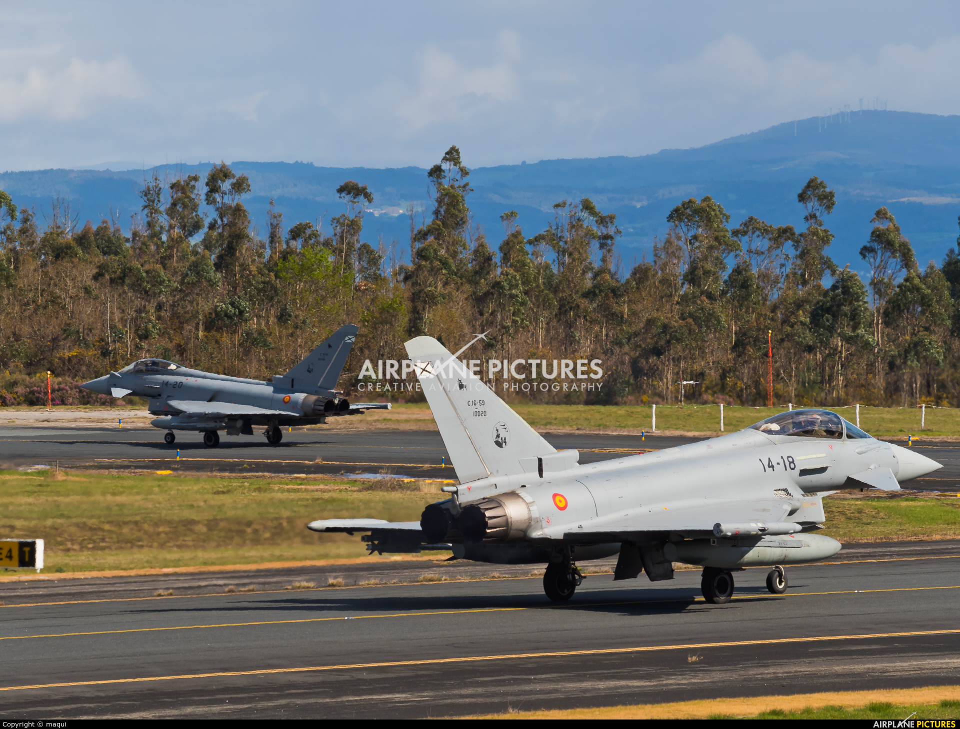 Spain - Air Force C.16-59 aircraft at Santiago de Compostela