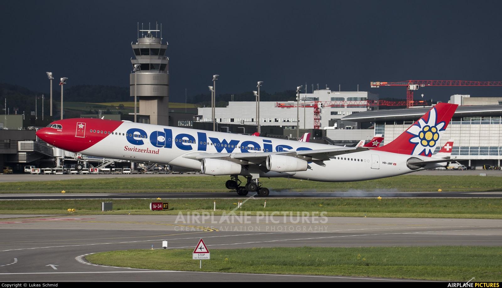 Edelweiss HB-JMF aircraft at Zurich
