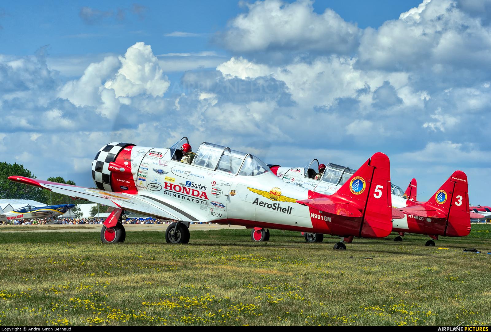 Aeroshell Aerobatic Team N991GM aircraft at Oshkosh - Wittman Regional