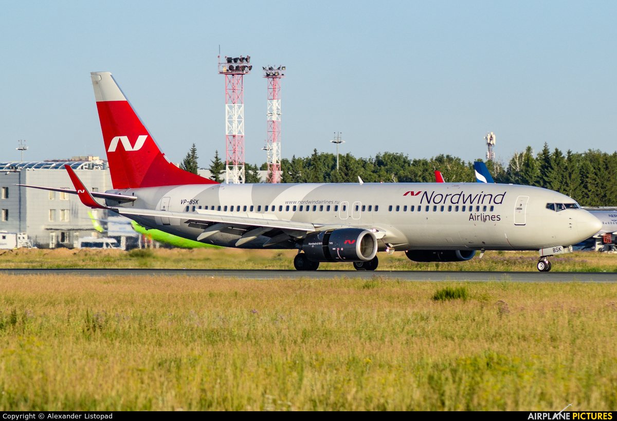 Nordwind Airlines VP-BSK aircraft at Novosibirsk