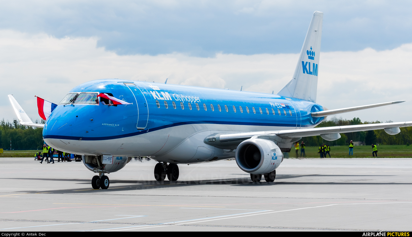 KLM Cityhopper PH-EXJ aircraft at Wrocław - Copernicus