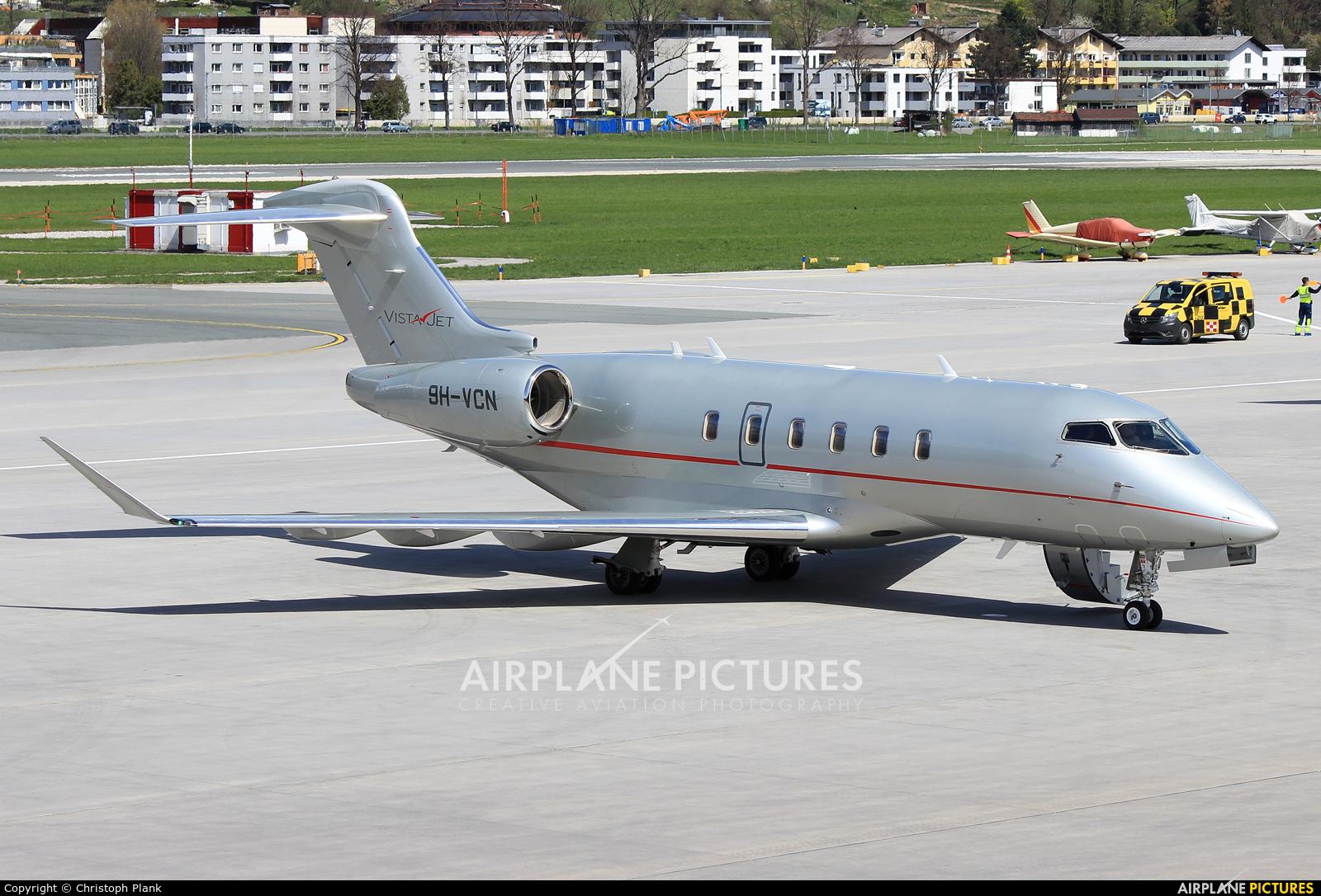 Vistajet 9H-VCN aircraft at Innsbruck